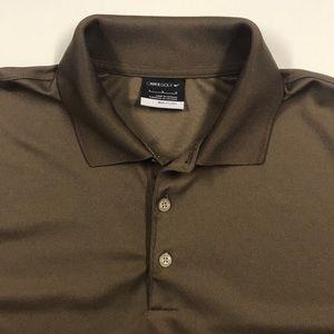 SHINER BEERS Nike Brown Polo Shirt Large TEXAS